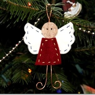 Felt and wire angel craft red ted art 39 s blog for Crafts for seniors with limited dexterity