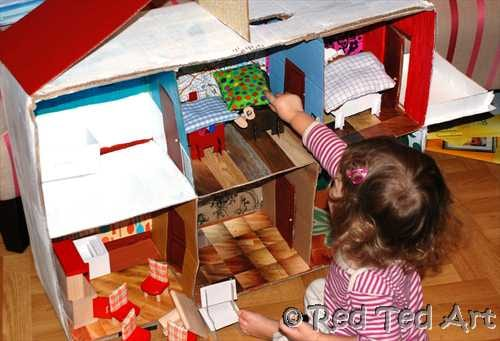 Diy card dolls house