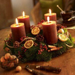 orangenscheiben bateln adventskranz