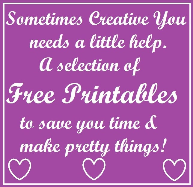 So If You Are Short Of Time And Want Something Pretty Printables It Is Here Some I Have Used In The Past Please Note That These