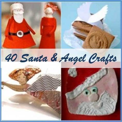 santa and angel crafts