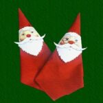santa crafts napkin decor