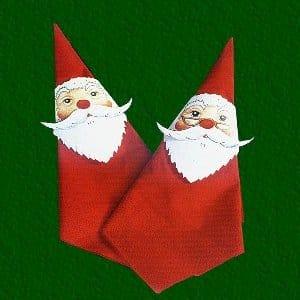 santa crafts napkin decor red ted art 39 s blog. Black Bedroom Furniture Sets. Home Design Ideas