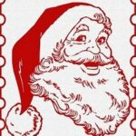 santa stamp crafts