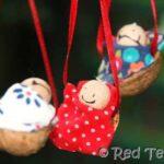 Kids Crafts: Traditional Walnut Babies