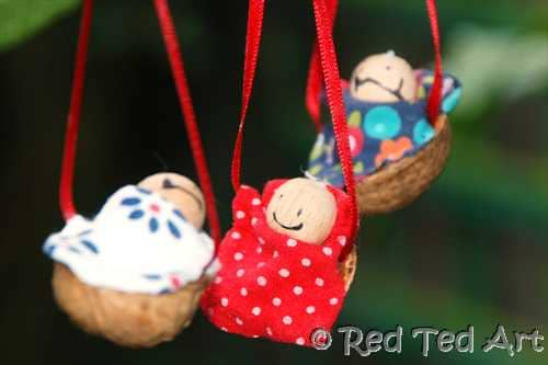 Kids Crafts: Traditional Walnut Babies