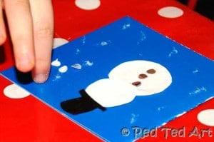 Christmas card making kids