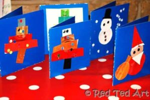 Christmas cards recycled