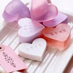 Heart shaped soap for valentines