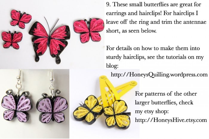 Lovely Paper Quilled Butterfly How to. So many uses!