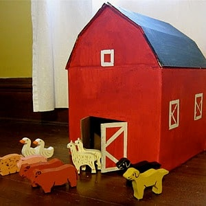 cardboard box play house