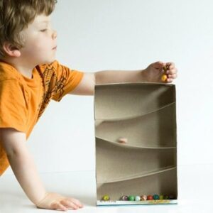 cereal box marble run diy