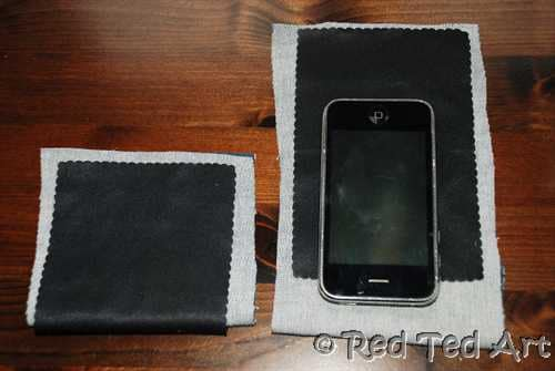 How to… make a (Microfibre) iphone/ ipod case