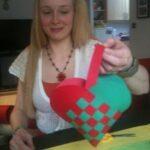 valentines heart basket