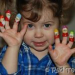 Kids Crafts: Peanut Finger Puppets