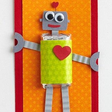 valentines robot card