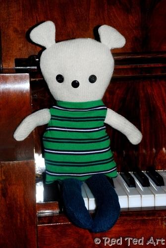 Quick Craft Post: Easy Rag Teddy Bear