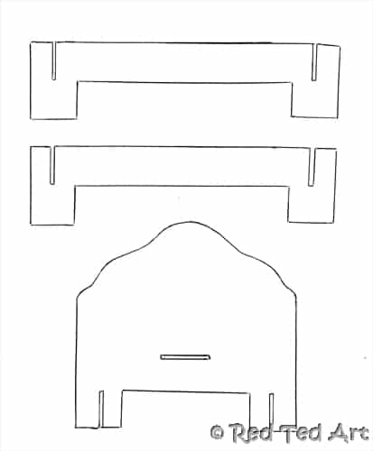 Paper Doll House Template Dolls House Furniture Pattern