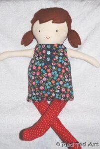 black apple rag doll