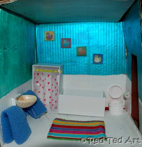 Quick Craft Post Dolls House Bathroom Red Ted Art S Blog