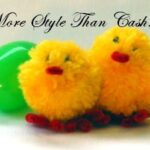 chick pom pom easter craft