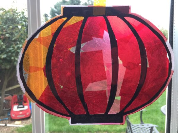 Easy Chinese lantern craft for preschoolers