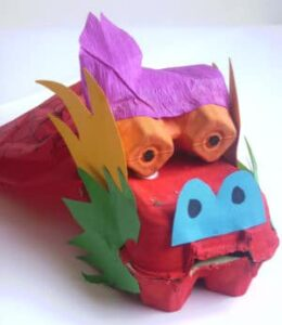chinese new year craft dragon