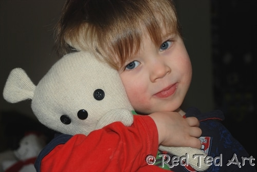 Quick Craft Post: Easy Rag Teddy Bear - Red Ted Art