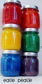 easy finger paints recipe