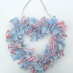 rag heart wreath