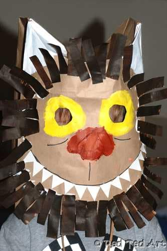 Where The Wild Things Are Paper Bag Mask Craft Red Ted Art
