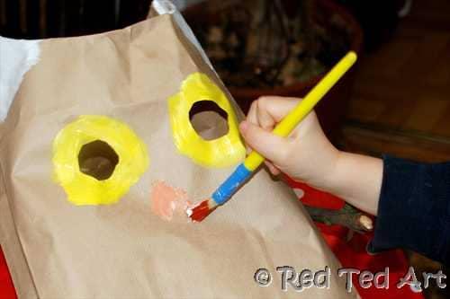 Kids Crafts: Paperbag Craft Challenge - Red Ted Art's Blog