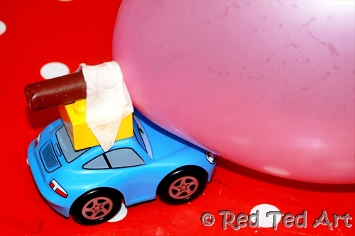cars party balloon race