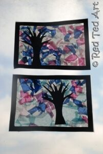four seasons tissue paper craft