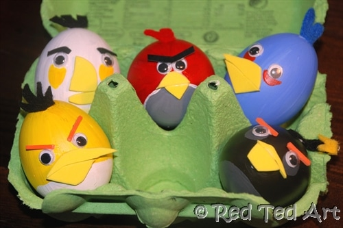Quick Craft Post: Angry Birds Eggs Craft - Red Ted Art's Blog ...
