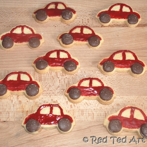 cars party cookies (2)