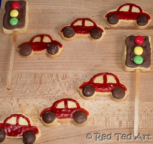cars party cookies