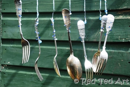 diy spoon windchimes