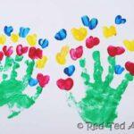 handprint bouquets