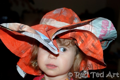 08b58630eb5 How to make a Newspaper Hat for Kids (super easy!) - Red Ted Art