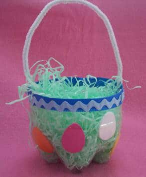 recycled easter basket