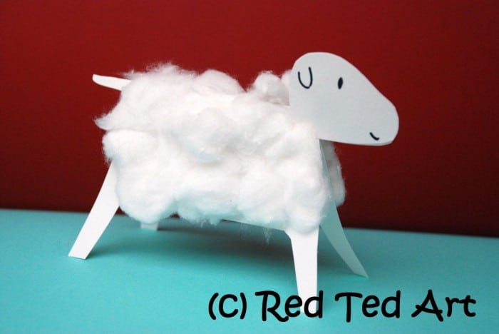 Kids Crafts: Cotton Wool Lambs