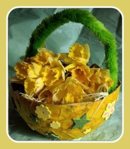 spring crafts basket