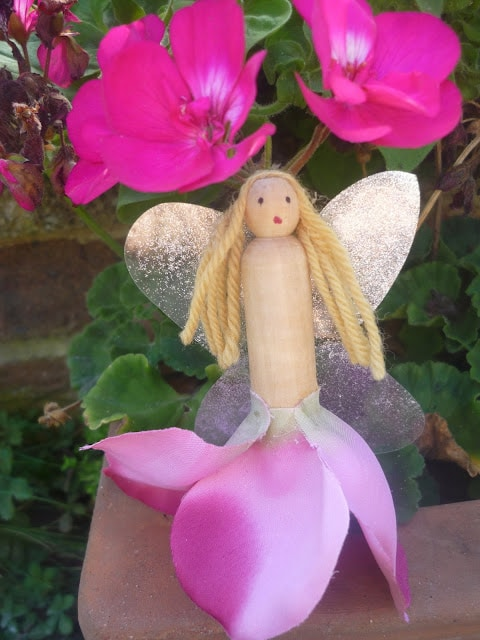 clothes peg fairy spring craft