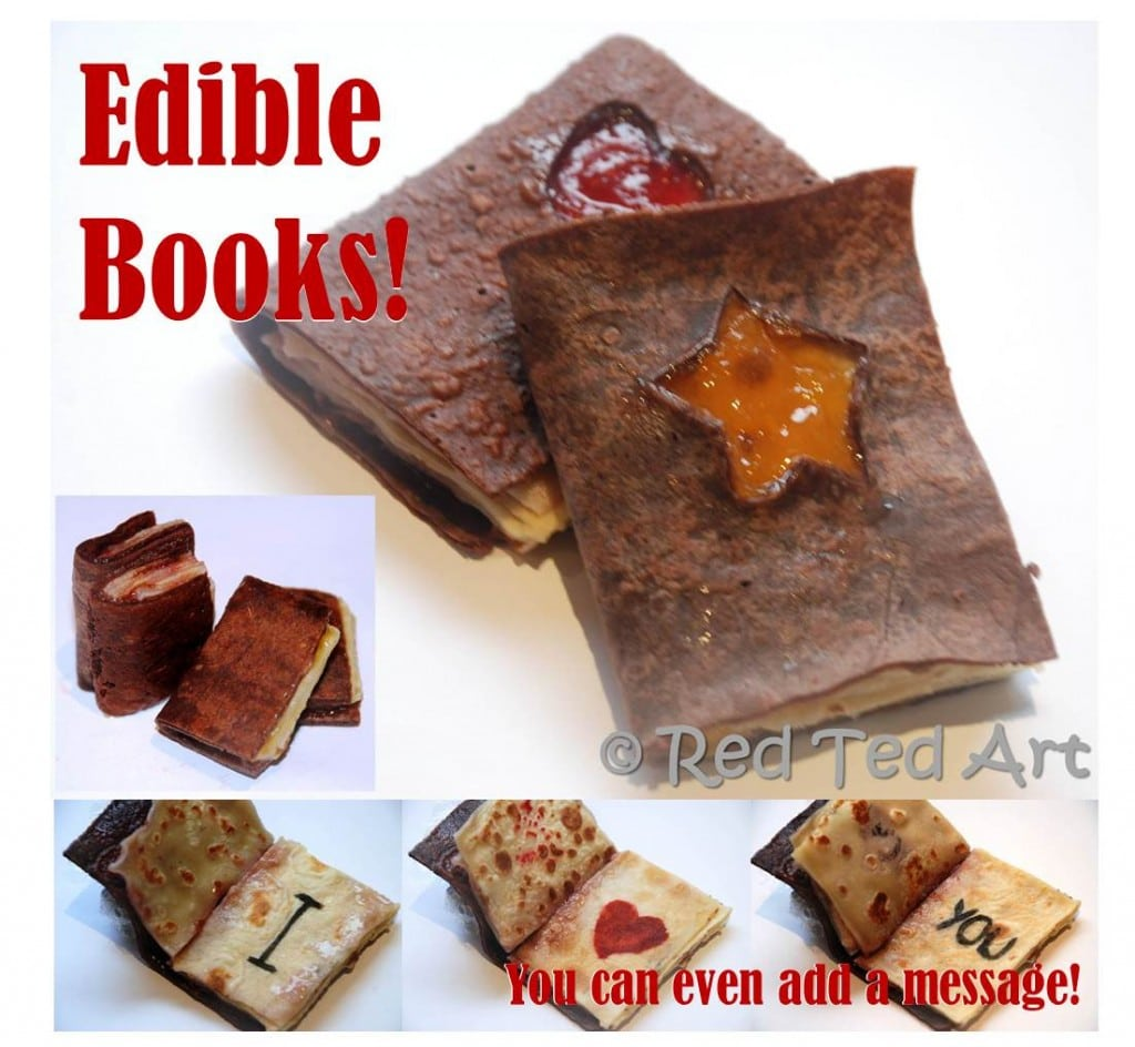 Kids Crafts Edible Books Red Ted Arts Blog