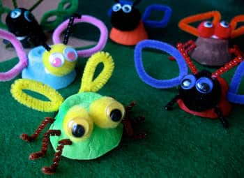 egg cup insects spring craft