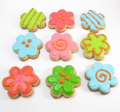 flower spring cookies