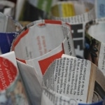 spring crafts newspaper pots