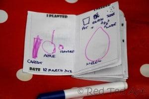 kids garden journal