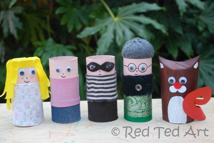 Quick Craft Post: More Cardboard Tube People – Pirates, Grannies & Robbers